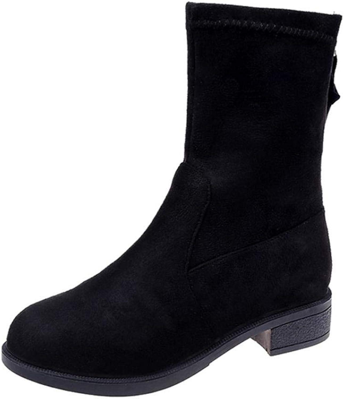 JaHGDU Fashion Women Winter Casual shoes Long Boots Keep Warm Fashion Leisure Elegant Cosy Wild Tight Super Quality Black for Womens