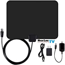 [Newest 2019] Amplified HD Digital TV Antenna Long 50+ Miles Range – Support 4K 1080p and All Older TV's Indoor Powerful HDTV Amplifier Signal Booster - 12ft Coax Cable/USB Power Adapter