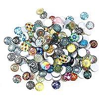 Surtido de mosaicos y azulejos de vidrio Rosenice de 12mm para manualidades, 200 piezas