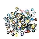 Rosenice, tessere di mosaico in vetro rotondo da 12mm per artigianato; confezione di 200 pezzi