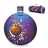 ALAZA Basketball Handy Mat with Strap Foldable Large Picnic & Outdoor Blanket, Perfect for Picnics, Beaches, RV and Outings, Picnic Mats