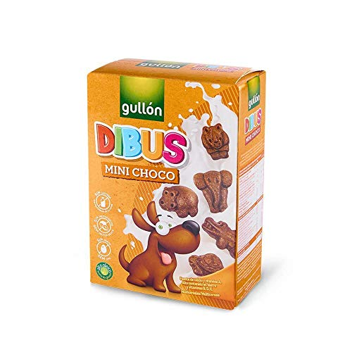 Gullón Galletas Chocolate Dibus Mini, 250g