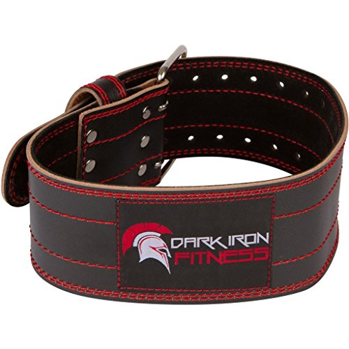 Dark Iron Fitness Medium Weight Lifting Belt Powerlifting Belt with Lifting Equipment Weightlifting Belt Body Building Lifting Belt Power Weight Lifting Belt Squat Belt Leather Weightlifting Belt