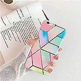 Compatible con iPhone 6S Plus, funda para teléfono móvil iPhone 6 Plus, carcasa de silicona TPU con diseño de mármol rosa, ultrafina, carcasa trasera de silicona suave Crystal Clear