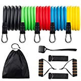 REDESS Resistance Bands Set Portable Home Gym Accessories with Door Anchor, Handles, Waterproof Carry Bag, Legs Ankle Straps for Resistance Training078