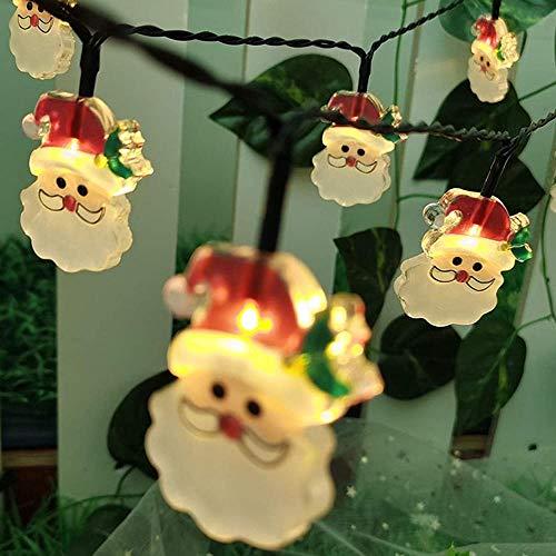 Cadena de luces LED USB/pilas Santa Claus Fairy String luces para interior dormitorio, patio, jardín, decoración de hadas, decoración de Navidad, luces de luciérnaga (color: Santa Claus)