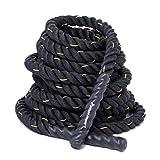 Cuerda de entrenamiento deportivo de fuerza Kylin Sport (3,81cm de ancho y 9, 12o 15m de longitud), (12M) UK