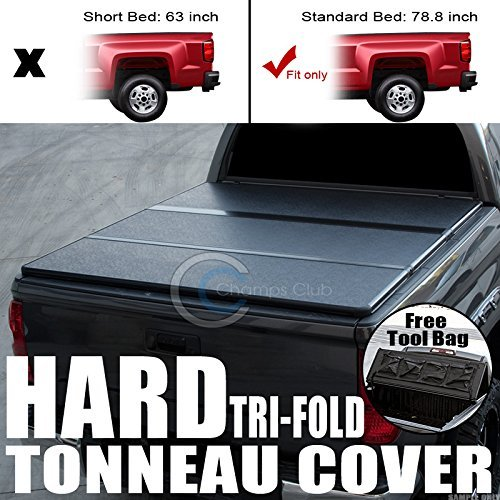 Velocity Concepts Tri-Fold Hard Tonneau Cover Tool Bag 09-16 Dodge Ram 5.7 Ft 68.4' Short Bed Sb