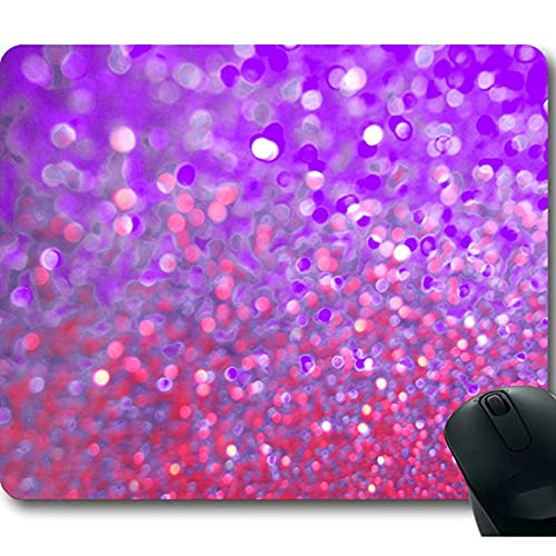 Rainbow Glitter Background Non-Slip Rubber Mousepad Gaming Mouse Pad Mat 01 Photo #2