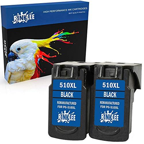 RINKLEE Remanufacturado para Canon PG-510XL Cartucho de Tinta Compatible con Canon Pixma iP2700 iP2702 MP230 MP240 MP250 MP260 MP270 MP280 MP480 MP490 MP495 MP499 MX320 MX350 | Negro, 2-Pack