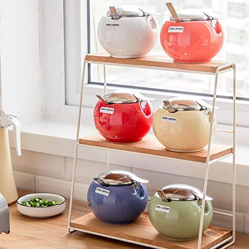 Pentola condimento Cucina Serbatoio di stoccaggio in Ceramica Contenitore di condimento Shaker Sale...