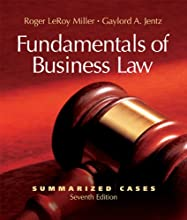 Fundamentals of Business Law Summarized Cases with Online Legal Research Guide