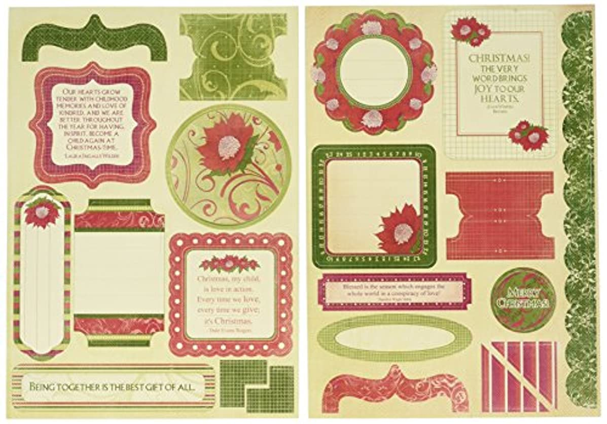 Kaisercraft Belle Die Cut Elements, 8.25-Inch by 6-Inch, 2 Per Package