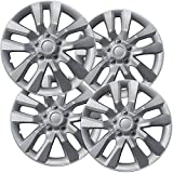 16 inch Hubcaps Best for 2013-2019 Nissan Altima - (Set of 4) Wheel Covers 16in Hub Caps Silver Rim Cover - Car Accessories for 16 inch Wheels - Snap On Hubcap, Auto Tire Replacement Exterior Cap