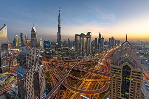 Puzzle 1000 Piezas para Adultos De Madera Niño Rompecabezas-Burj Khalifa-Juego Casual De Arte DIY Juguetes Regalo Interesantes Amigo Familiar Adecuado