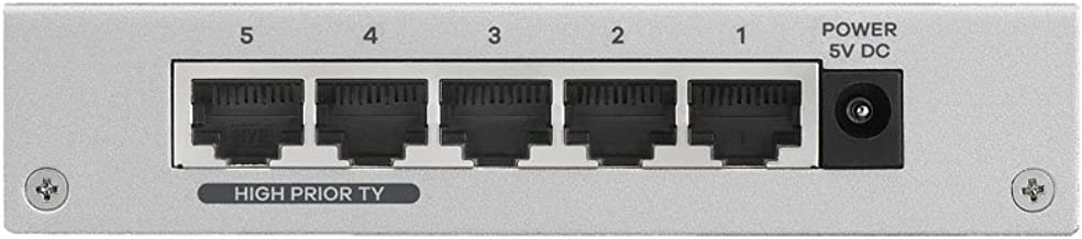 Zyxel 5-port Desktop Fast Ethernet Switch – Metallgehäuse, Lifetime Garantie [ES-105AV3]