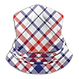 ZVEZVI Almohada fresca Patrón de cuadros de tartán Belleza americana Máscara de esquí Máscara facial de clima frío Calentador de cuello Capucha de lana Sombreros de invierno
