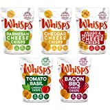 Whisps Cheese Crisps Variety Pack | Keto Snack, No Gluten, No Sugar, Low Carb, High Protein | 2.12oz (5 Pack)