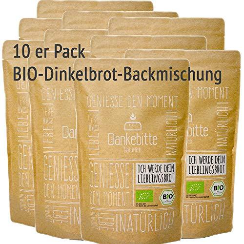 10er Pack Bio Brot Backmischung Dinkelbrot
