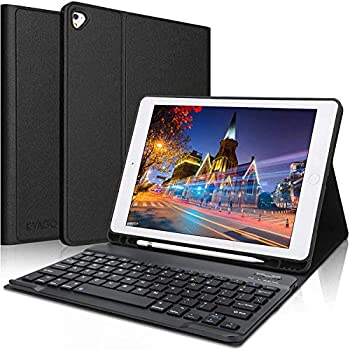iPad Keyboard Case 9.7 inch Compatible with iPad 6th Generation,iPad 5th Generation iPad Pro 9.7 inch iPad Air 2,iPad Air Protective Folio Cover with Wireless Bluetooth Keyboard -Black