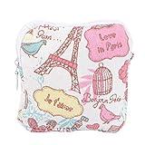 EXCEART Compresa Sanitaria Bolsa Tampones Recoger Bolsas Compresas Sanitarias Portátiles Bolsas de Almacenamiento Menstruación Femenina Primer Período Bolsa para Mujeres (Romántico París)