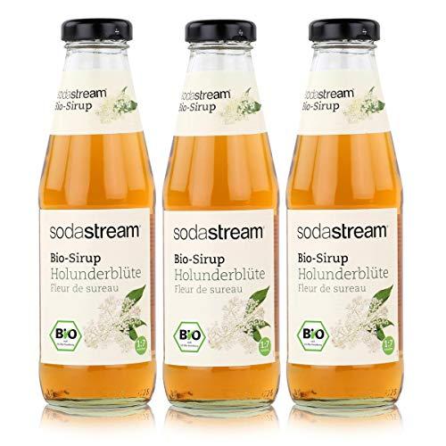 SodaStream Getränke-Bio-Sirup Holunderblüte Geschmack 500ml (3er Pack)