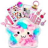HOMCENT Kids Makeup Kit for Girls - Pretend Play Washable Make Up Set with Cosmetics Bag Lipstick,Brush,Mirror, Halloween Christmas Party Birthday Gift Toys for Girl Aged 3 4 5 6 7 8