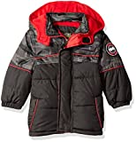 iXtreme Baby Boys' Camo with Grid Cut and Sew Puffer, Black, 12 Months