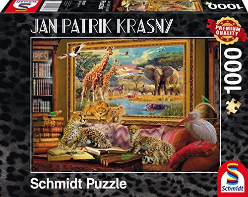 Schmidt Spiele Puzzle per Adulto: La Savana, 1000 Pezzi