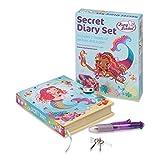 Lucy Locket – Diario Secreto Infantil de Sirenas mágicas – Diario Secreto con candado, bolígrafo Multicolor y Pegatinas – Diarios para niños