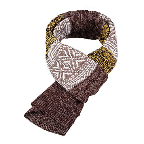 Tuopuda Winter Herbst Herren Strickschal Langschal Warm Schal Casual Business Gentleman (gelb)