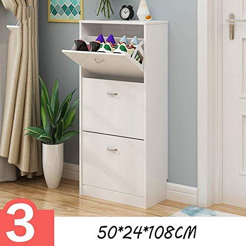 Schoenenrek, afloopschoen, slim, voor porch, schoenenkast, schoenenrek, modern en eenvoudig, 50 brede schoenenkast, schoenenrek (kleur: wit)