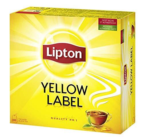 Lipton Yellow Label Schwarzer Tee,  100 Teebeutel mit Doppelkammer, 1er Pack (1 x 200 g)