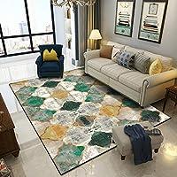 長方形のカーペット、ホームカーペットモロッコのスタイルエメラルドグリーンカーペット滑り止めジムプレイマットの家の装飾の汚れの抵抗力のある床のカーペット,Jade green,150X200cm