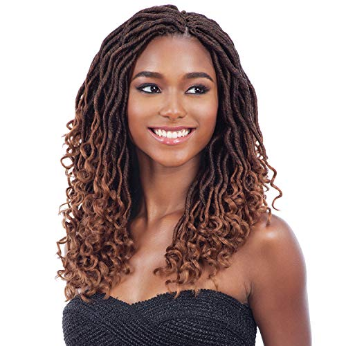 MULTI PACK DEALS! FreeTress Synthetic Hair Crochet Braids Gorgeous Loc 12' (Goddess Loc) (3-PACK, 1B)