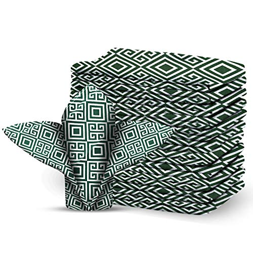 CraftoXo Cotton Cloth Napkins 1-Dozen, Reusable Washable, Made of Pure Cotton Fabric Kitchen Napkins Set of 12, Perfect for Weddings, Halloween, Christmas Parties, Holiday Dinner 18 x 18-inch (12)