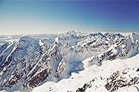 Leyiyi スノーカバー 山 写真 背景 ハッピーニューイヤー キャンプ ステイ オーバーナイト テント ホワイト 世界 雪 森 魅惑 森 森林 メリークリスマス 小道具