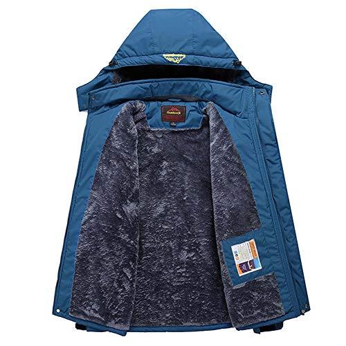 ELEAMO Rain Jacket Active Outdoor Hooded Women Trench Coats Waterproof Hoody Raincoat for Hiking Skiing Trekking Travelling Windbreaker Mountaineering,Blue,M