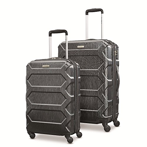 Samsonite Magnitude Lx 2 Piece Nested Hardside Set (20'/24'), Black, Only at Amazon