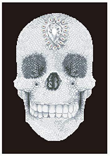 Pracht Creatives Hobby DD10-021 - Diamond Dotz Totenkopf, funkelndes Diamantbild zum Selbstgestalten, ca. 42 x 60 cm groß, Malen mit Diamanten, neuer und kreativer Basteltrend