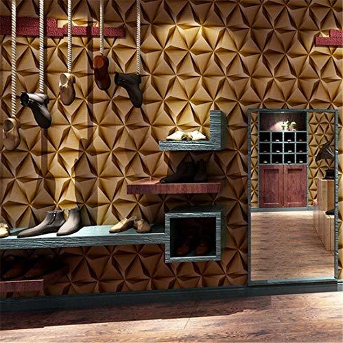 3D-gouden geometrische onregelmatig patroon behang eenvoudig restaurant kantoor bank in de woonkamer industriële wind wallpaper (0,53 * 10m)