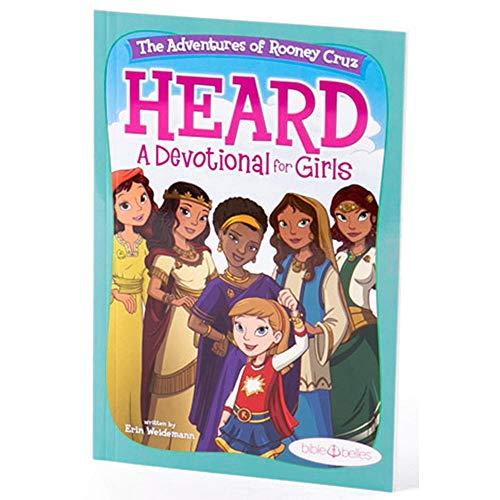 "BIBLE BELLES Daily Devotional for Girls Heard: The Adventures of Rooney Cruz"" Children s Devotional Book – Christian Activity Book w 5 Weeks of Crafts, Bible Verses, Prayers & Bible Stories"