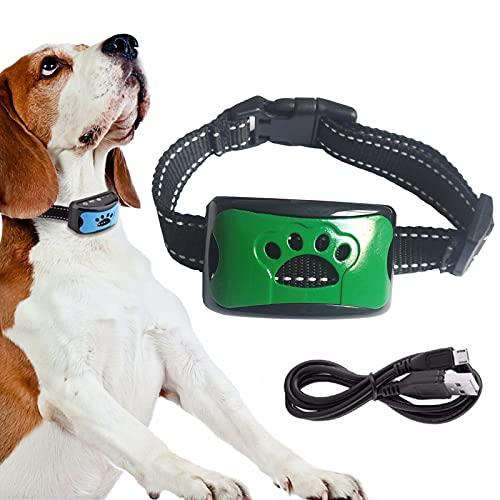 Collar de Perro Anti - ladrido Recargable Collar de Perro Anti - ladrido Seguro humanizado Stop ladrando Collar de Perro sin ladrar Modo de Sonido y vibración-D