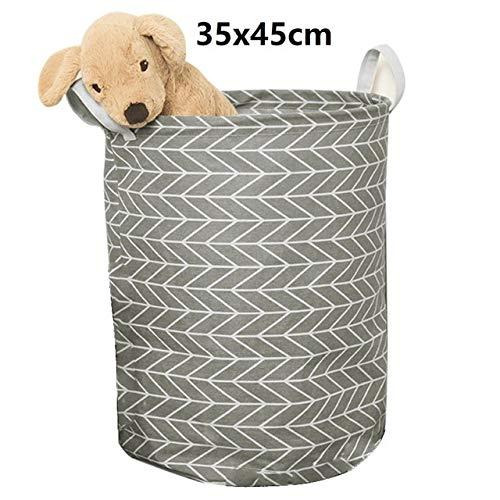 Mdsfe 1pc Baumwolle und Leinen Staub sammeln Eimer Korb Waschen Spielzeug Schmutzige Kleidung Lagerung Organizer Wäschekörbe Bin 35x45cm - F4 35x45cm, a5