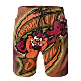 Inaayayi Tas-Man-Ian-De-Vil - Pantalones cortos de playa para hombre, pantalones cortos clásicos de baño de secado rápido, con múltiples bolsillos y forro de malla
