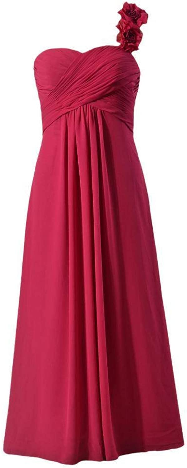 DaisyFormals® Women Long Evening Dress One Shoulder Bridesmaid Dress(BM346)