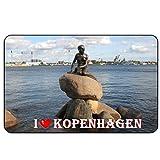 Cadora Magnetschild Kühlschrankmagnet I Love Kopenhagen I