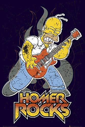 GB eye Poster The Simpsons Homer Rocks, 61 x 91,5 cm, Maxi