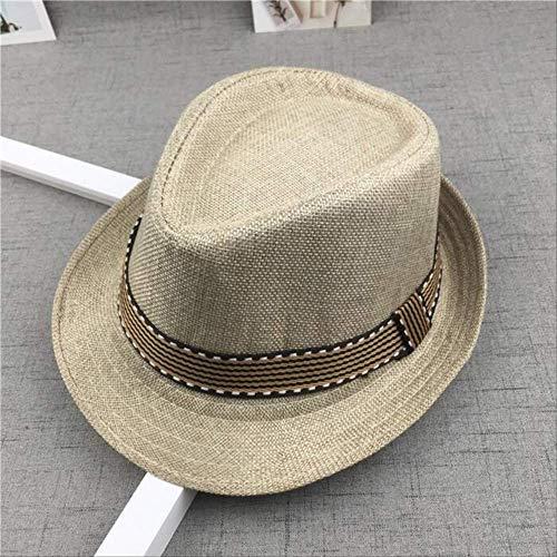 YMKXXB Hut Strohmütze Baby Hüte Kinder Jazz Mütze Eimer Hut Sonnenmütze Sommer Für Mädchen Jungen Hut 48-52Cm 15