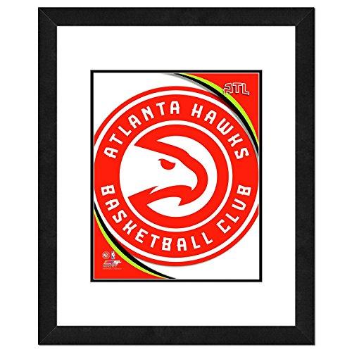 "NBA Atlanta Hawks Team Logo Double Matted & Framed Photo, 22.5"" x 26.5"", Multicolor"
